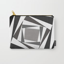 Abstract black white squares Carry-All Pouch