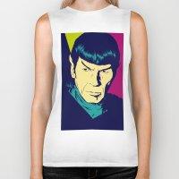 spock Biker Tanks featuring Spock Logic by Vee Ladwa
