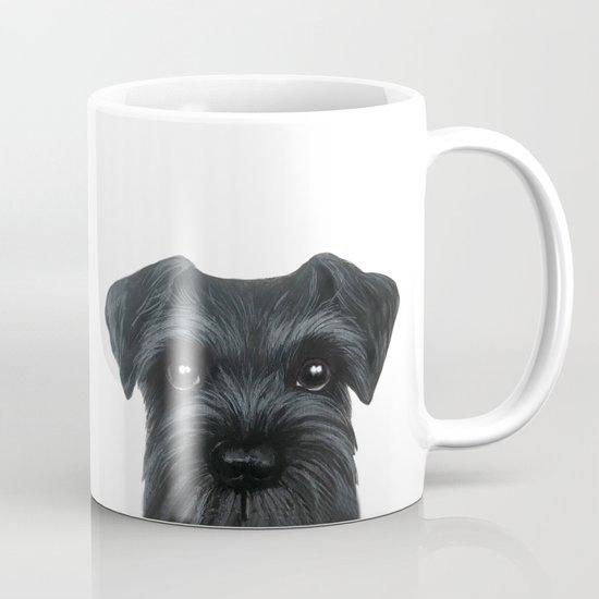 New Black Schnauzer, Dog illustration original painting print by miartdesigncreation