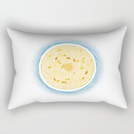 Watercolor of Chinese Cuisine | Osmanthus and Sweet Fermented Glutinous Rice Soup | 桂花甜酒酿 Rectangular Pillow