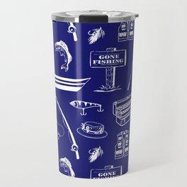 Gone Fishing // Midnight Blue Travel Mug
