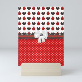 Ladybug and Hearts Mini Art Print