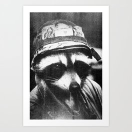 Raccoon of Fortune Art Print
