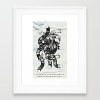nietzsche Framed Art Prints featuring Nietzsche by Roll