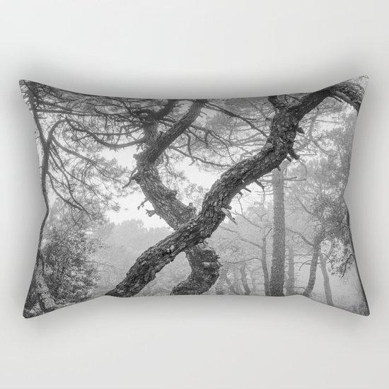 """""""X"""". Forest dreams BW Rectangular Pillow"""