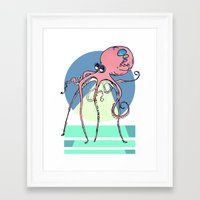 phil jones Framed Art Prints featuring Phil by MannyManster