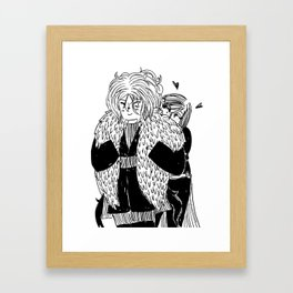 Feathers are heart Framed Art Print