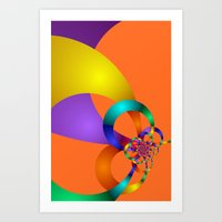 time for fractals -8- curtain Art Print