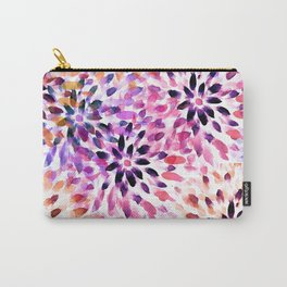 Colorful abstract watercolor flower pattern Carry-All Pouch