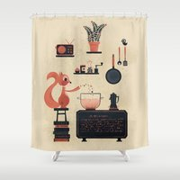 cooking Shower Curtains featuring just keep cooking by blablasah
