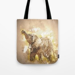 Elephant - It's Tea Time! Tote Bag