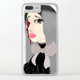 Never Knows Best Clear iPhone Case