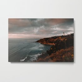California Coastline Sunset II Metal Print