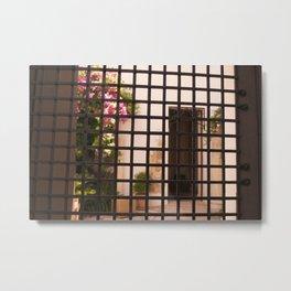 Rejas y flores Metal Print