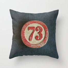 Seventy Three Throw Pillow