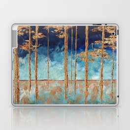 Forest of Blue and Gold Laptop & iPad Skin