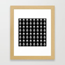 Heart Skulls Framed Art Print