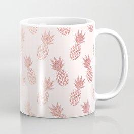 Rose Gold Pineapple Pattern Coffee Mug