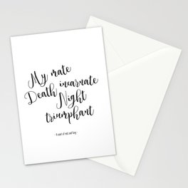 death incarnate (a court of mist and fury) Stationery Cards