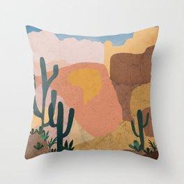 Utah Desert Abstract Collage Throw Pillow