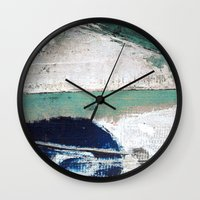 surf Wall Clocks featuring Surf by Bella Blue Photography