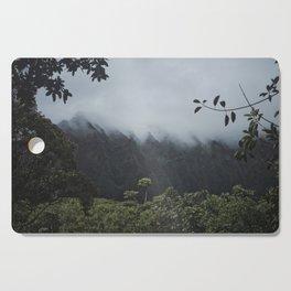 Foggy Oahu Green Cutting Board