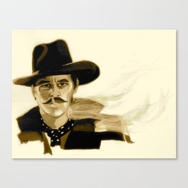 "Tombstone (Film, 1993) Doc Holliday ""I'm Your Huckleberry"" * SEPIA * Canvas Print"