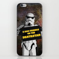 storm trooper iPhone & iPod Skins featuring Storm Trooper by ZeebraPrint