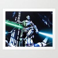 Art Print featuring General grievous - Armed and Dangerous by jcalum2012