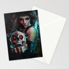 Skull Mage Dark Fantasy Original Character Painting Stationery Cards