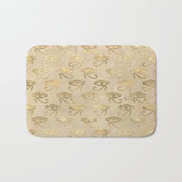 Gold Egypt Eye Of Horus Pattern Bath Mat