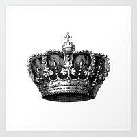 crown Art Prints featuring crown by AleDan