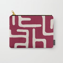 Kuba in oxblood Carry-All Pouch