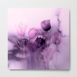 tulips through smoke Metal Print