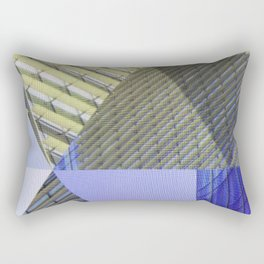 Architectural Triangles Abstract Design Rectangular Pillow