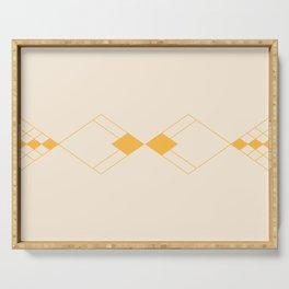 Minimal Geometry - Golden Serving Tray