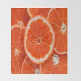 Orange-citrus-slices Throw Blanket