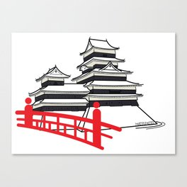 Icon-O-Tecture | Matsumoto Castle Canvas Print