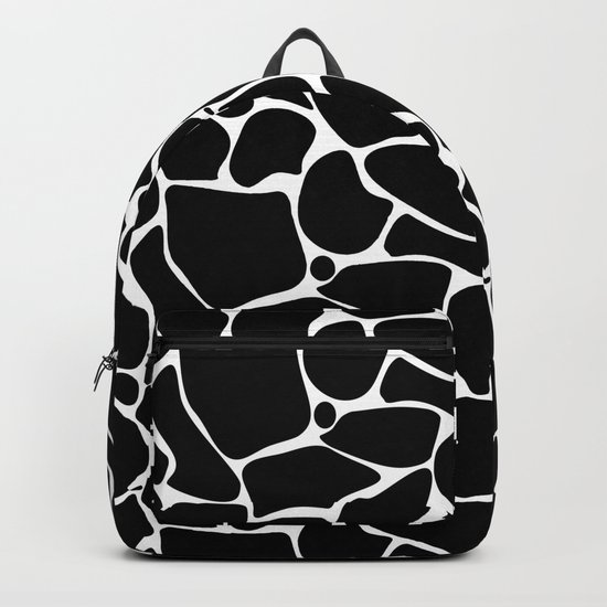Black and white abstract pattern . Backpack