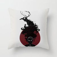 hannibal Throw Pillows featuring Hannibal by Sutexii
