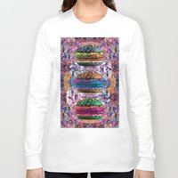 holographic Long Sleeve T-shirts featuring black burger doom zone by STORMYMADE