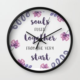 souls fused together from the very start Wall Clock