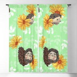 Spring Hedgehogs Blackout Curtain