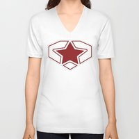 superheroes V-neck T-shirts featuring Superheroes! by EloisaD