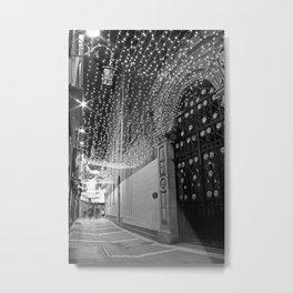 Christmas lights at Johnson's Court, Dublin Metal Print