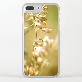 GOLDEN SPANGLES Clear iPhone Case