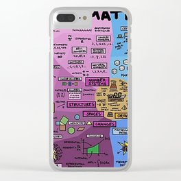 The Map of Mathematics Clear iPhone Case