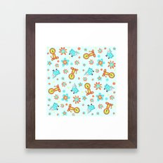 Lion & Lamb Happy As Clams Framed Art Print
