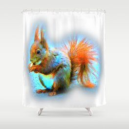 Squirrel in modern style Shower Curtain
