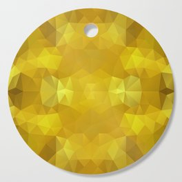 Triangles design in warm yellow colors Cutting Board
